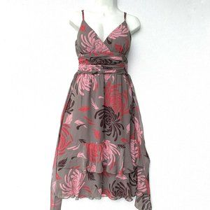 Max and Cleo Women Dress Size 10 Brown Pink Spaget